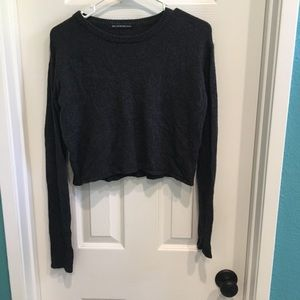 Brandy Charcoal Cropped Sweater